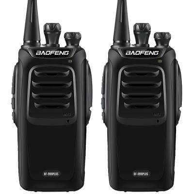 【2只裝】寶鋒(BAOFENG) 999PLUS商用民用手持對講機 專業手臺 大功率黑色 2臺裝