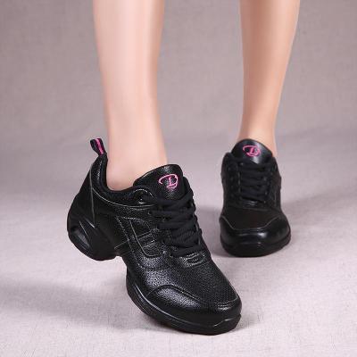 牛霸道舞蹈鞋夏季水兵舞鞋软底成人广场舞跳舞鞋女外穿时尚白 h29全皮黑(小一码) 35