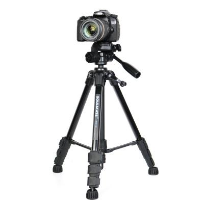 数魅 soulmate M8 专业三脚架 云台支架套装 铝合金脚架 微单相机 单反数码相机 摄像机 照相机专业三脚架