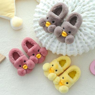 儿童棉鞋 男女童卡通保暖宝宝室内居家鞋2-9岁小孩包跟棉拖鞋冬季