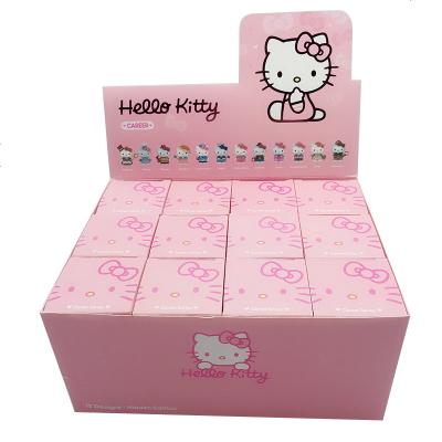祖國版貓咪貓鈴鐺盲盒一套小白兔松松兔盲盒擺件Hello kitty凱蒂貓職業盲盒一套 職業系列凱蒂貓全套12個