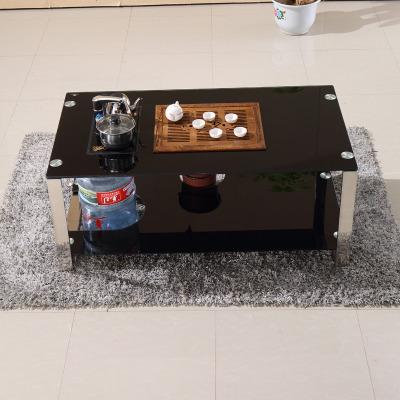 简约茶几钢化玻璃自动上水泡茶桌茶台办公客厅家具茶具整套送凳子