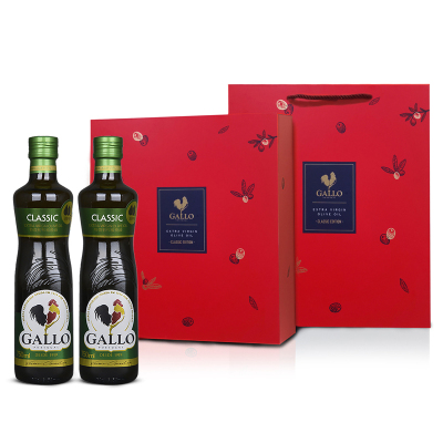 GALLO橄露公鸡橄榄油 葡萄牙原瓶原装进口 精选特级初榨 橄榄油750ml*2瓶 礼盒装