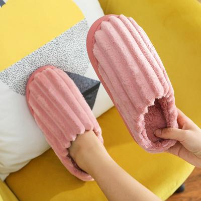 羊騎士2020棉拖鞋女士拖鞋秋冬季情侶居家用保暖防滑厚底軟底半包臥室地板拖鞋