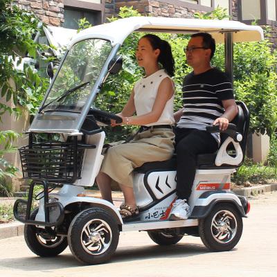 小巴士四輪電動車代步車老年旅行車觀光電瓶車E80型連座小車新升級