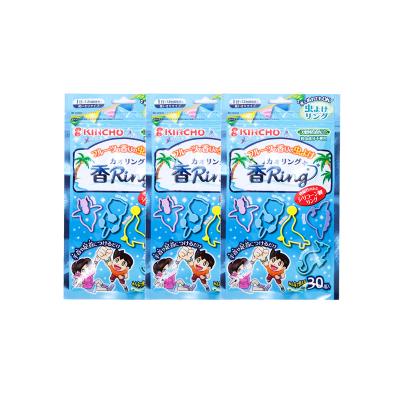 【3件裝】金鳥KINCHO 藍色香味驅蟲手環 水果香味 每袋 30個入
