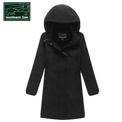 NorthernSun 加拿大諾思山加厚運動女軟殼衣中長款外套休閑衣秋冬保暖修身舒適5396