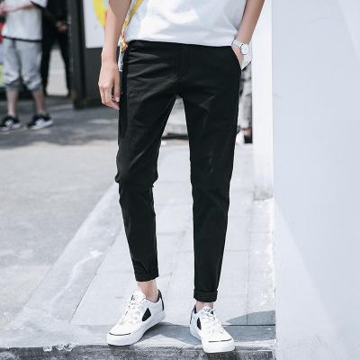 休閑褲男純色直筒修身男士褲棉彈力韓版收腿長褲顯瘦男褲子