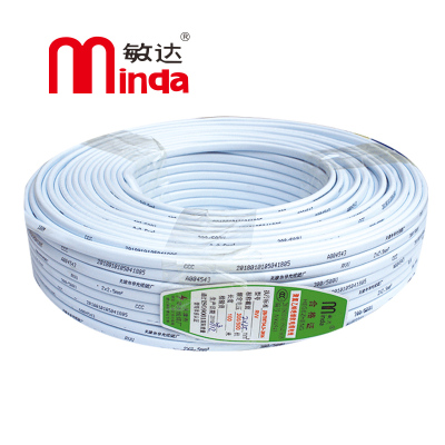 敏達(minda) 電線電纜 國標3芯銅芯軟護套線 RVV3*1.5平方 100米