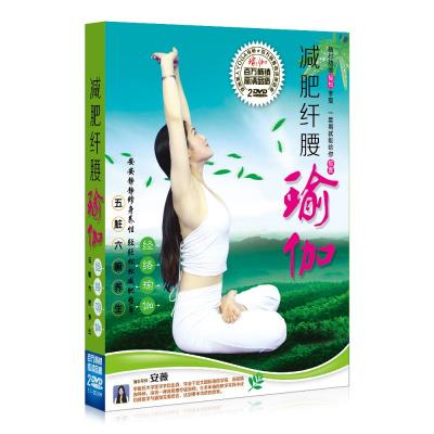 瑜伽dvd 初級入門教程光盤減肥纖腰經絡瑜伽健身操高清視頻碟片