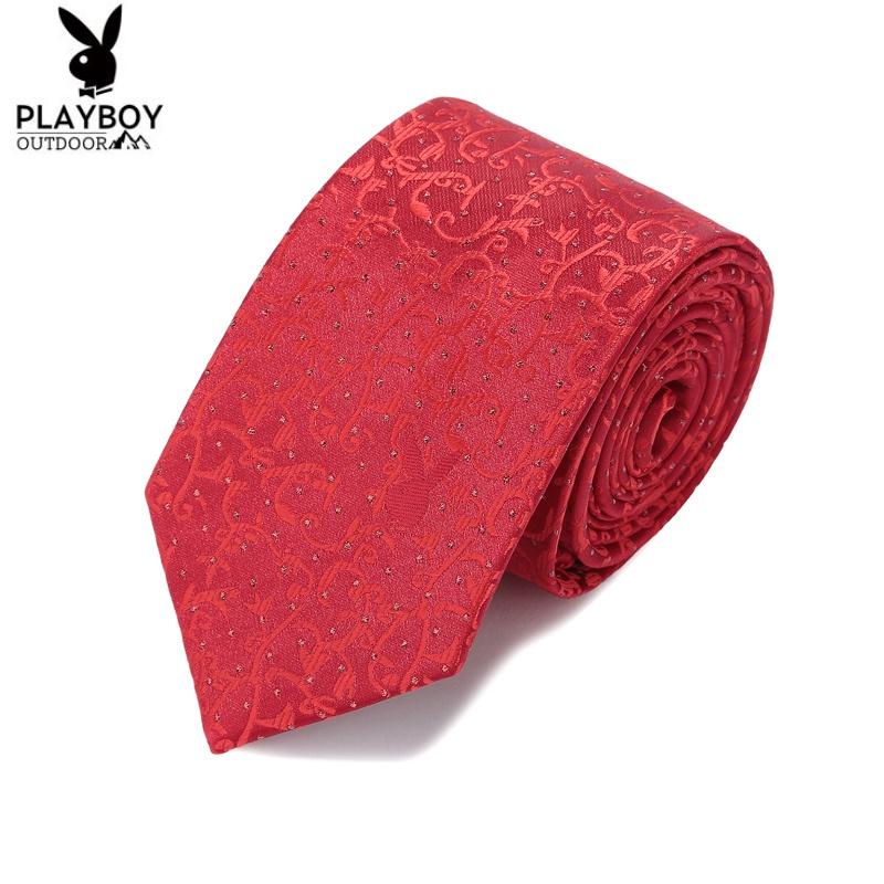 5cm大红色结婚领带男礼盒装