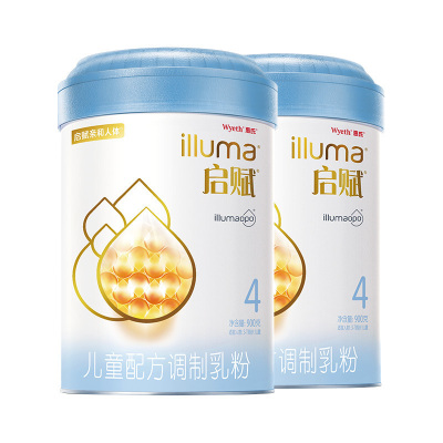 惠氏illuma啟賦兒童配方調制乳粉(3-7歲,4段)900g*2