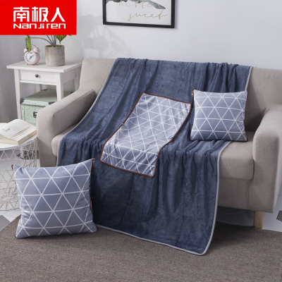 南極人(NanJiren)家紡 可愛抱枕被子兩用毛絨加厚靠枕頭汽車辦公室午休毯折疊