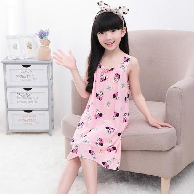 2020女童睡裙中大童夏季睡衣女孩純棉薄款親子棉綢裙子兒童吊帶連衣裙 衫伊格(shanyige)