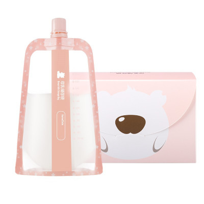 小白熊母乳储存袋宝宝储奶袋多功能果汁保鲜袋220ml 30pcs 09779