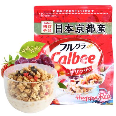 【免郵零食】卡樂比Calbee 水果麥片500g*1袋裝 日本進口谷物早餐麥片即食麥片燕麥片
