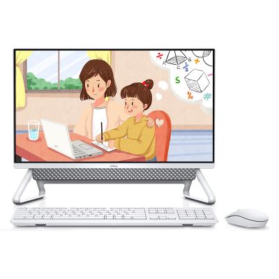 戴爾(DELL)靈越一體機5490 23.8英寸窄邊框高性能商用辦公家用網課學習臺式電腦(i3-10110U 8GB 1TB+256GB固態 WiFi藍牙 三年上門 有線鍵鼠)銀