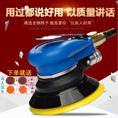 马打磨机5寸腻子抛光打蜡磨光干磨机125mm吸尘砂纸机气动工具 UL-323双盘套餐(红色带吸尘)