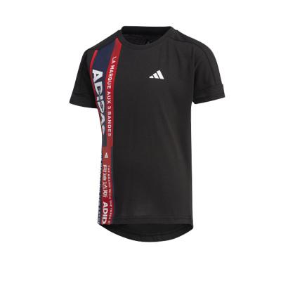阿迪達斯(adidas)小童裝訓練運動圓領短袖T恤 FM9798