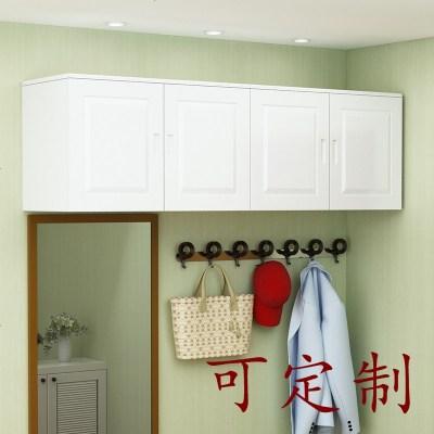 杞沐實木松木吊柜頂柜壁柜掛柜廚房吊柜簡易衣柜大容量儲物柜
