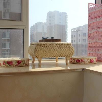 藤编飘窗桌小桌子简约榻榻米飘窗茶几欧式创意实木地台桌炕桌