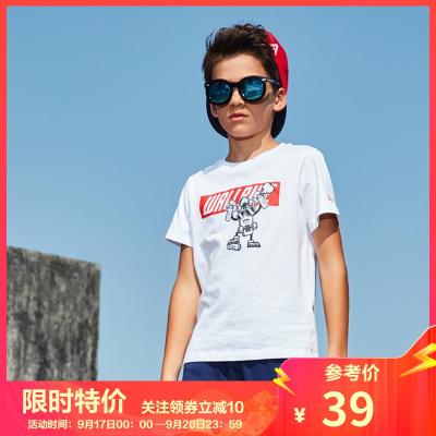361°兒童男大童親膚舒適休閑運動短袖T恤男童短袖