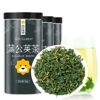 桑克拉(SUN CLARA)蒲公英茶50g*3套裝 長白山野生蒲公英根茶可 搭配丁香花茶