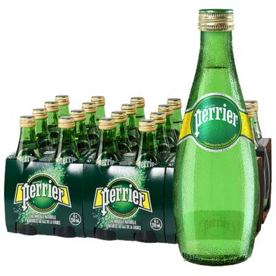 【經典原味玻璃瓶】巴黎水(Perrier)天然氣泡礦泉水(原味)玻璃瓶裝 330ml*24瓶/箱 進口飲用水 法國進口