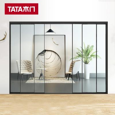 TATA木门 极简推拉门窄边框移门厨房隔断推拉门客厅阳台推拉门001