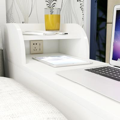 尋木匠茶幾歐式客廳邊幾沙發柜帶插座茶幾縫隙扶手柜角幾USB沙發邊柜