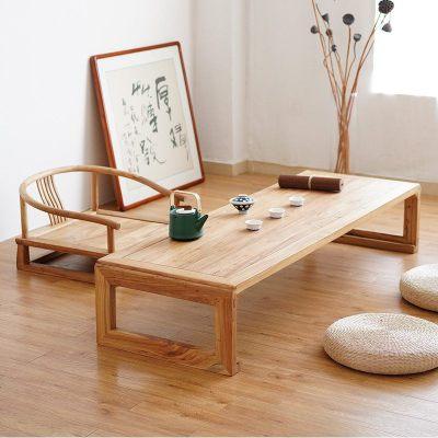 日式榻榻米茶几小桌子禅意矮茶桌炕桌实木榻榻米桌子阳台飘窗桌