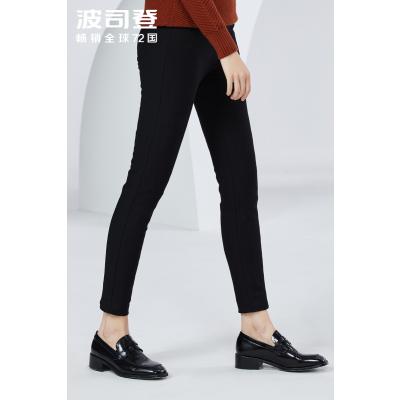 波司登羽絨褲女士2019新款外穿冬季保暖束腿修身長褲子