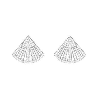 APM Monaco扇形耳釘女設計感個性慵懶法式S925銀耳環AE9848OX