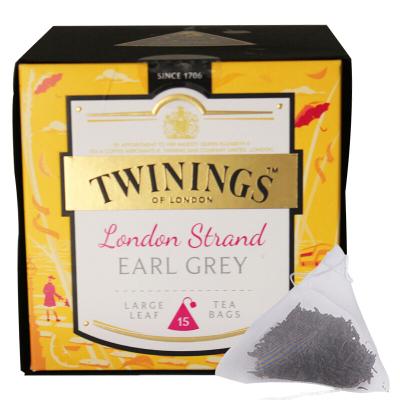 川宁(TWININGS) 波兰进口 茶叶红茶 英国川宁英伦茗香伯爵红茶37.5g(内含15枚)三角茶包 红茶