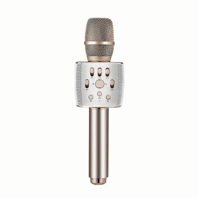 屁颠虫(HIFIER)X37手机电视无线K歌 蓝牙话筒音响一体便携掌上KTV家用电视唱歌神器 3.5耳机口 香槟金色