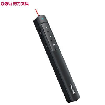 得力(deli)2808P激光翻頁筆 紅光黑色 PPT投影儀翻頁筆 會議無線演示筆 教學筆 指示筆