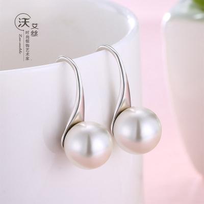 圓臉適合銀耳環女925純銀2020新款潮復古高級感網紅氣質珍珠耳飾
