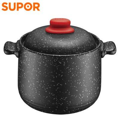 蘇泊爾(SUPOR)砂鍋湯鍋陶瓷煲燉鍋耐熱中藥煲粥煲星星石系列湯煲明火專用 4.5升 TB45N1