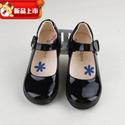 迪鲁奥(DILUAO)儿童皮鞋软底女童黑色公主鞋学生表演出舞蹈鞋中大童单鞋