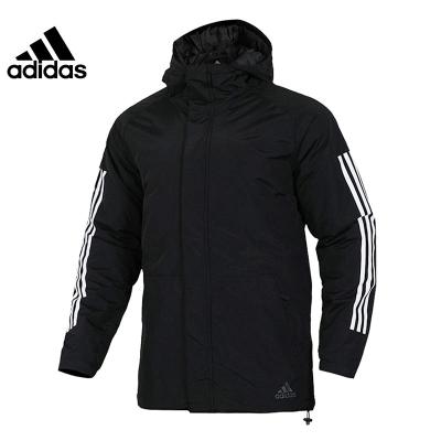 Adidas阿迪達斯男子休閑運動連帽棉服夾克外套CY8624