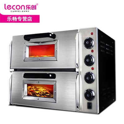 【品牌自营】乐创(lecon)商用烤箱 烤炉双层蛋糕面包 二层披萨烤箱 大烘炉设备电烤箱