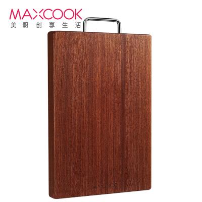 美廚(maxcook)烏檀木砧板菜板 加厚天然實木整木案板和面板家用切菜板 可剁骨36*24*2.5cm MCPJ790