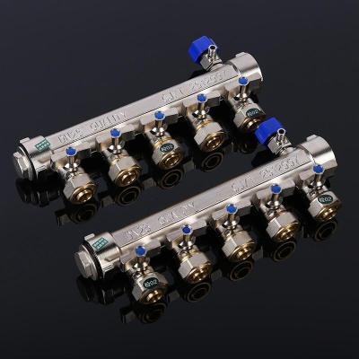 地暖分水器地熱管家用大流量暖氣水暖全銅一體閥水開關配件