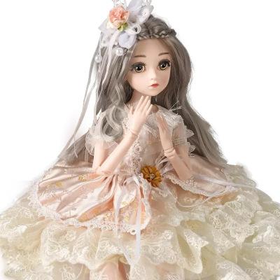 大號45cm厘米芭比套裝仿真洋娃娃女孩公主單個玩具超大禮盒布生日禮物