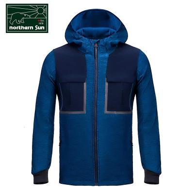 NorthernSun 加拿大加拿大諾思山戶外男搖粒絨針織軟殼衣夾克外套春秋防風防水7529