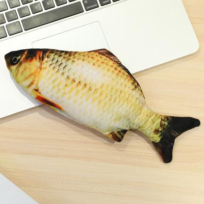 鴟吻抖音網紅電動魚游泳魚貓咪的神器過家家同款新品娃娃紅魚搖擺魚尾巴會跑玩具(草魚款)
