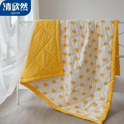 清欣然(QinGXR)家紡 納米水洗棉夏被空調被夏涼被春秋雙人單人兒童被芯夏天薄被子