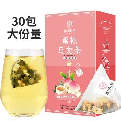 譙韻堂蜜桃烏龍茶30包/盒三角包茶白桃烏龍水蜜桃茶蘋果干果茶
