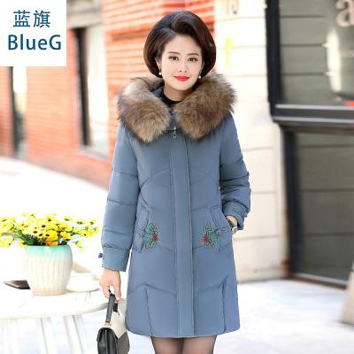 蓝旗中老年棉服女冬装棉服外套新款中年人洋气棉衣妈妈装加厚棉袄