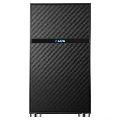 先馬(SAMA)平頭哥M1電競版 Mini小機箱 支持M-ATX主板/支持240水冷/鋼化玻璃側透/背線/電源倉/U3